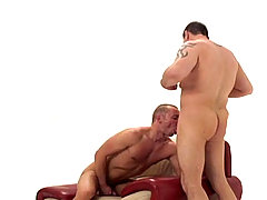 Hot gays dudes give each other blowjobs and cum swap