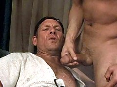 Two studs in hot 69 blowjobs and anal action in here