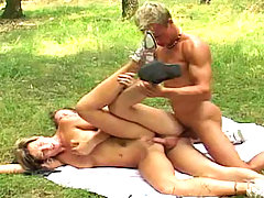 Nice chick playing with 2 young bisexuals boys