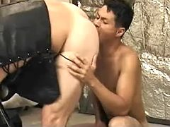 Asian gay slut first sucks off then gets hammered