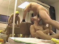 Amateur but very horny guy gets stuffed first time