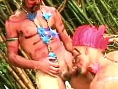 Savage gays sex on island