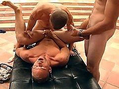Patrick Rouge gets his ass gang-banged by four hot guys!