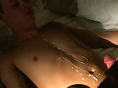 college twink gets ass screwed and belly cummed