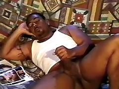 Black gay slummed by handsome stud