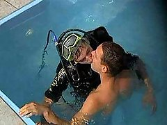 Divers sexing in water and on earth
