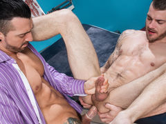 Sexy patient Tryp Bates is visiting Doctor Jimmy Durano about not being able to take his man's huge cock. Doctor Durano is more than appreciated