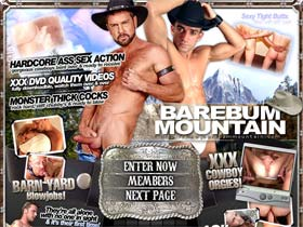 Welcome to Bare Bum Mountain - gorgeous cowboys in hardcore ass sex action!