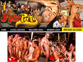 Welcome to Sausage Party - crazy guys suck and fuck in gay party!